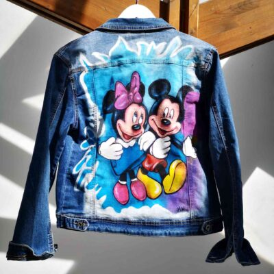 Giubotto in jeans Mickey Mouse
