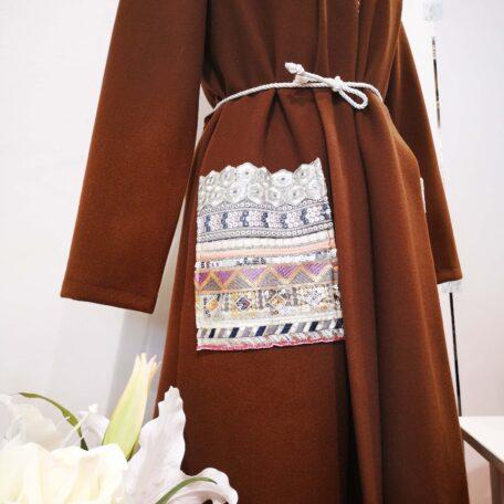 cappotto tasche ricamate marrone (4)