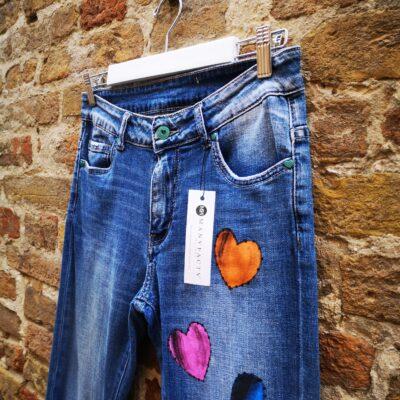 Jeans Artigianale dipinto a mano